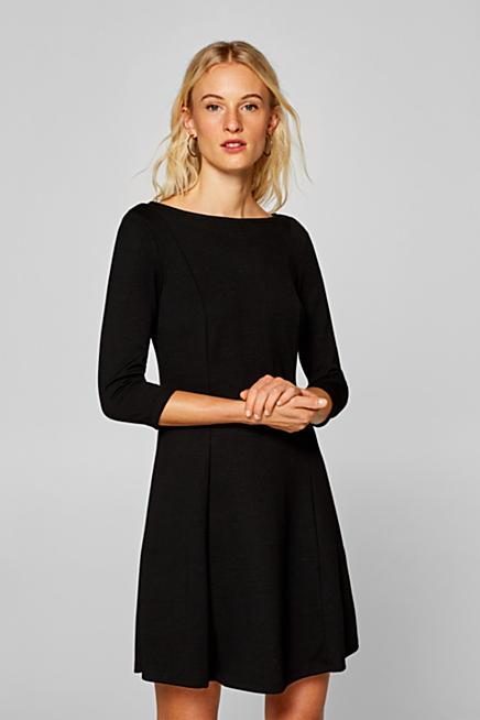 Žerzejové strečové šaty s rozšířenou sukní ec4933b3e0