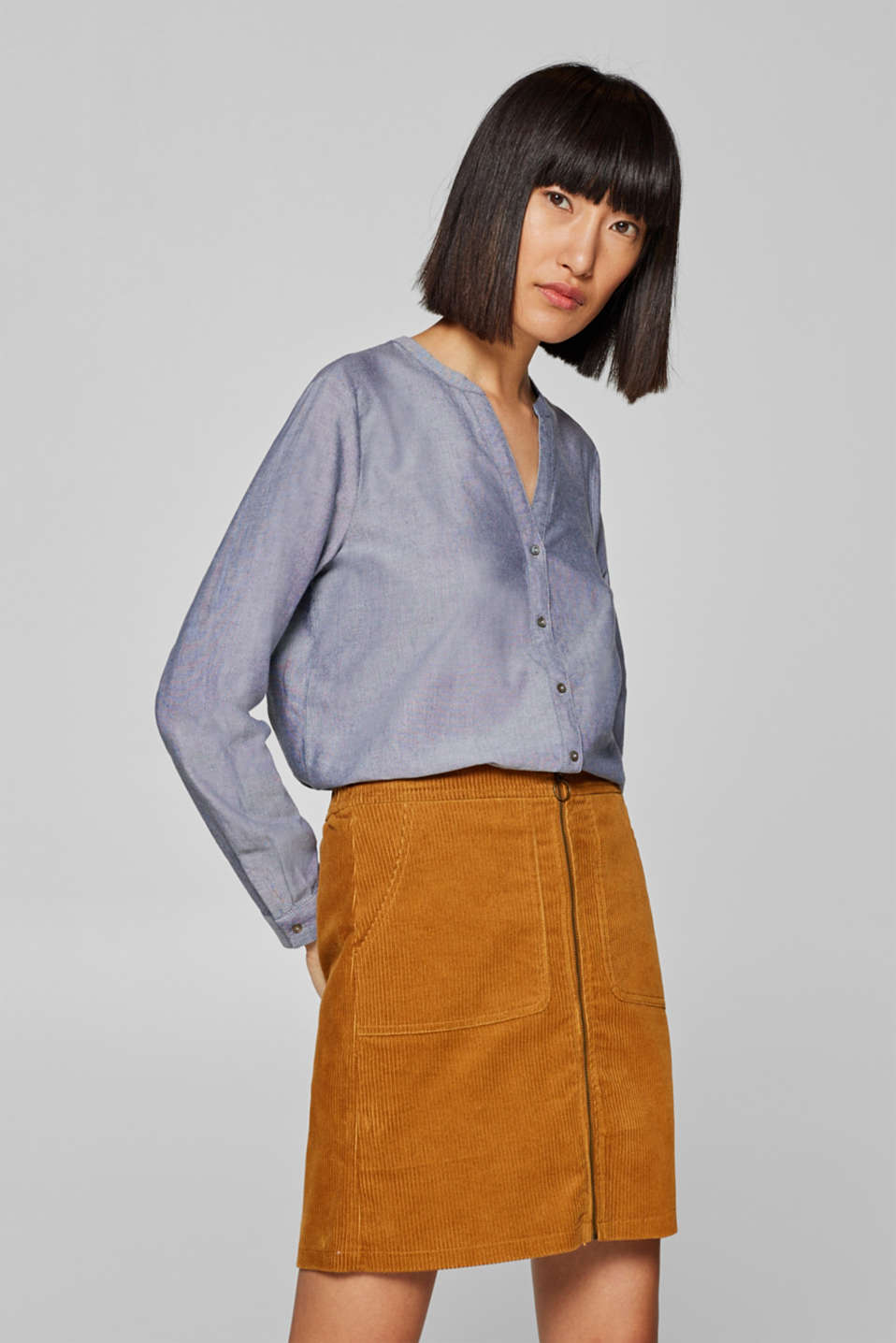 edc - Casual Oxford blouse, 100% cotton