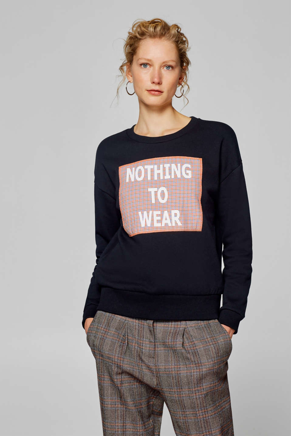 edc - Sweatshirt mit Statement-Applikation
