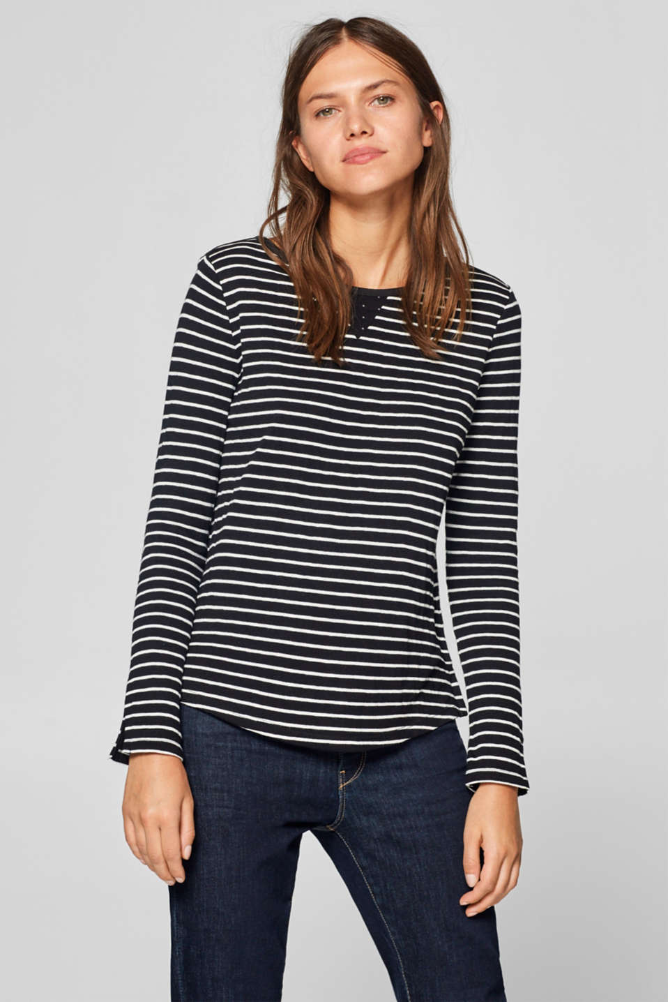 edc - Long sleeve top in double-faced jersey