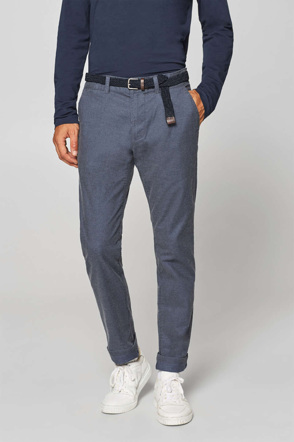edc - Chinos with belt and super stretch for comfort