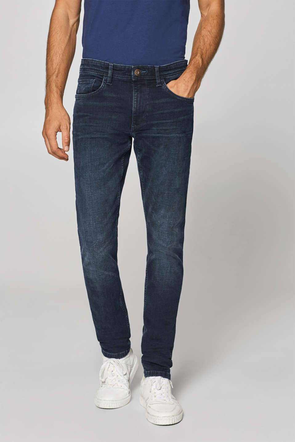 edc - Super stretchy jeans with washed-out effect