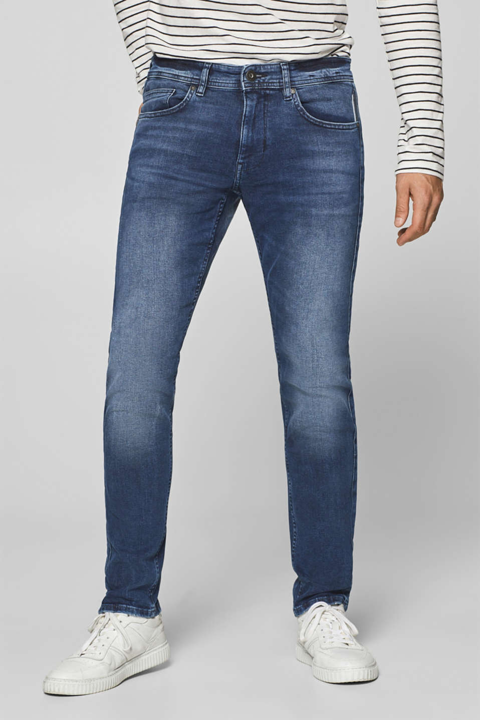 edc - Stretch jeans with tuxedo stripes