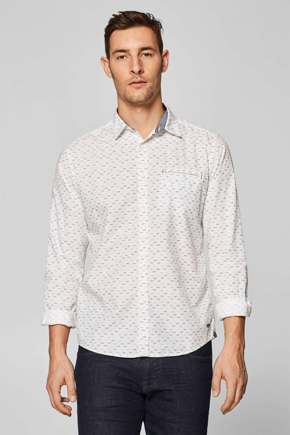 edc - Shirt with an all-over print, 100% cotton