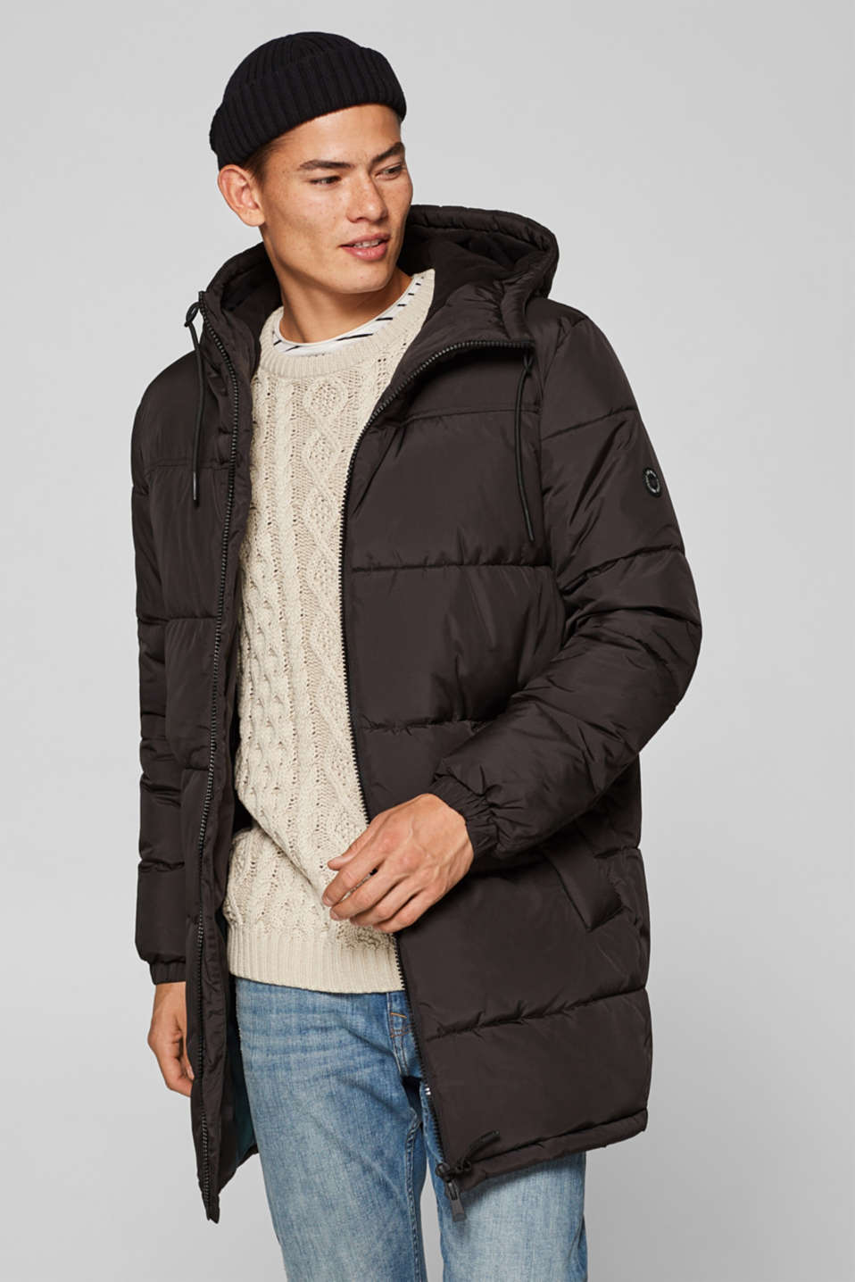 edc - Quilted jacket with a hood