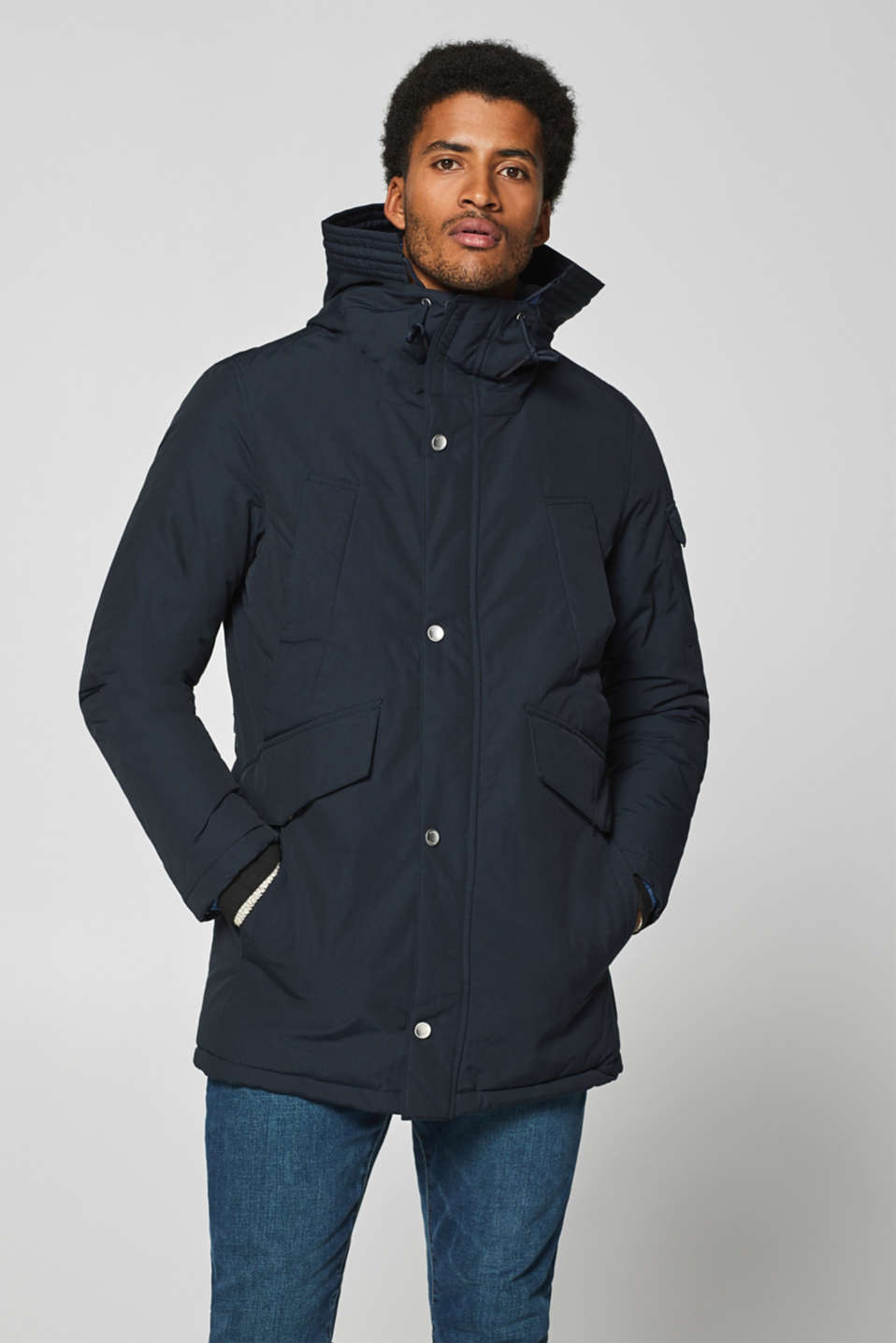 edc - Parka with quilted lining