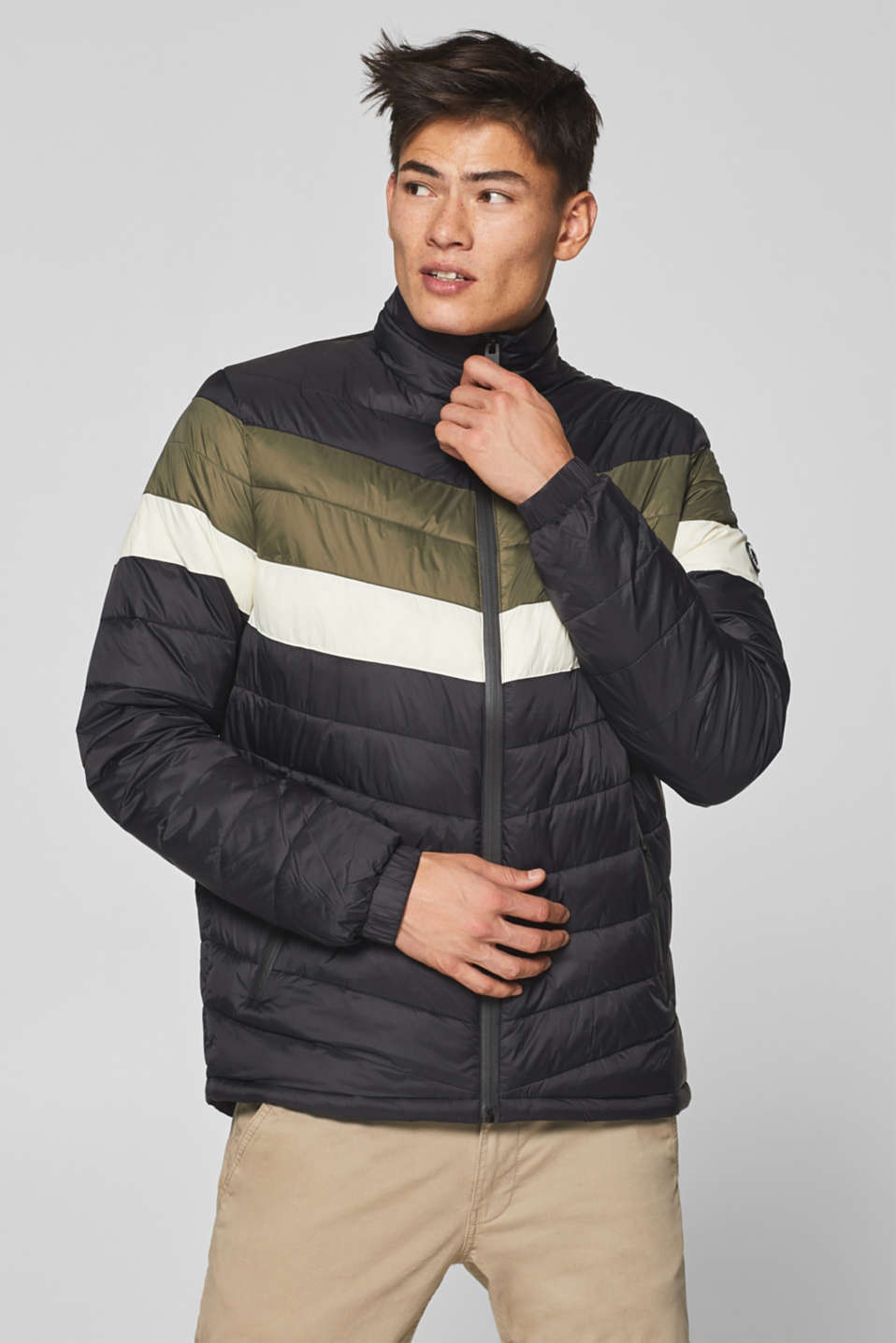 edc - Retro look quilted jacket