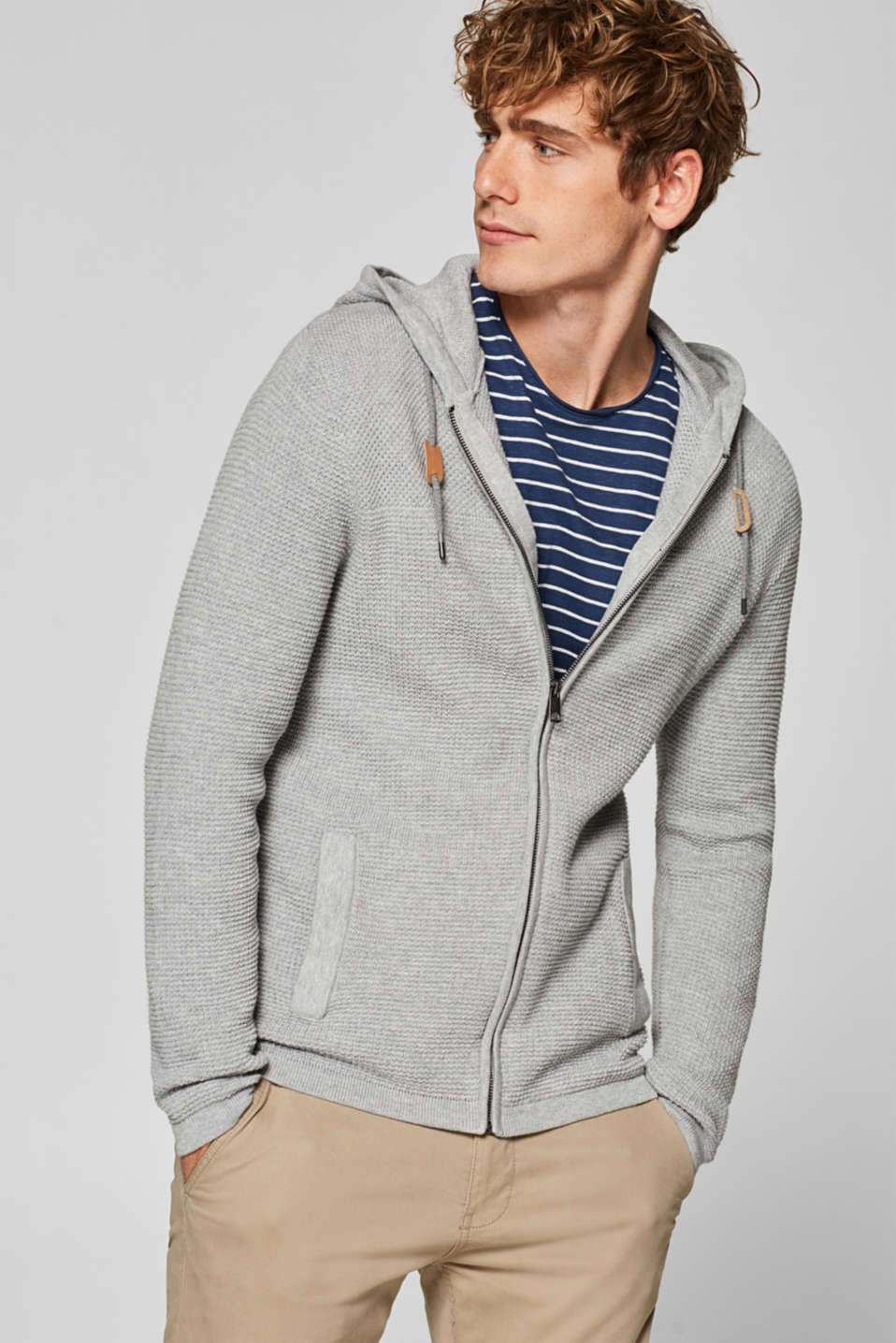 edc - Textured hoodie in 100% cotton