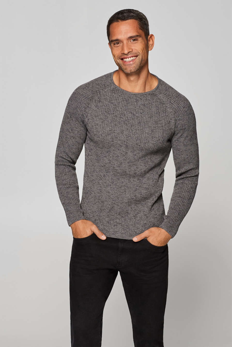 edc - Rib knit jumper in 100% cotton