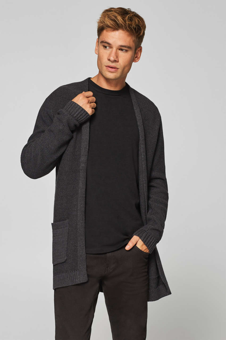 edc - Open cardigan in blended cotton