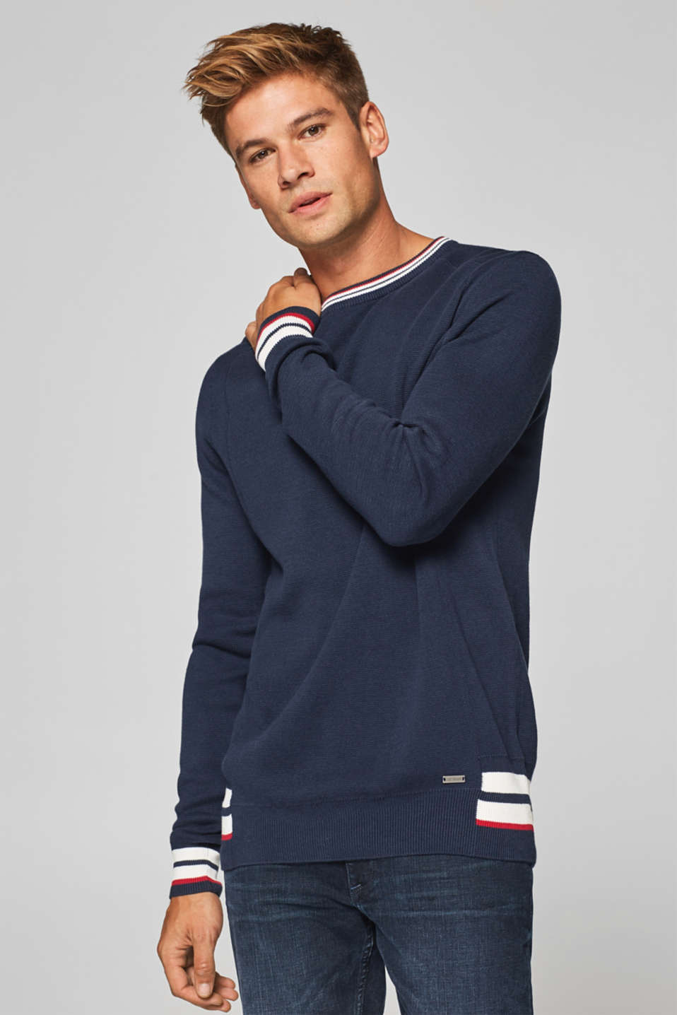 edc - Pull-over au look sweater, 100 % coton