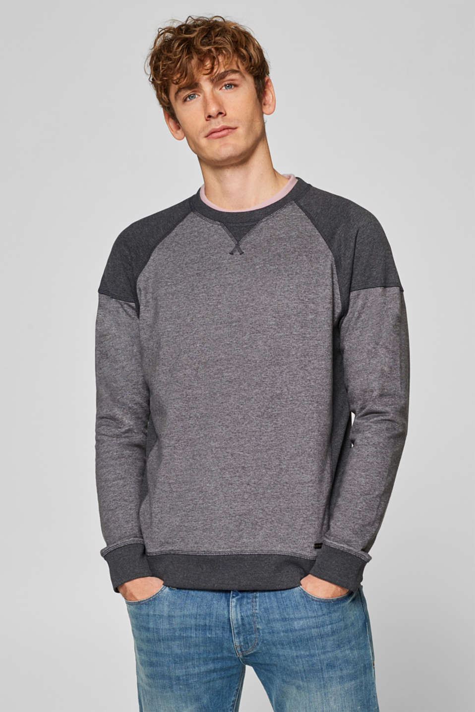 edc - Sweatshirt with a colour block design