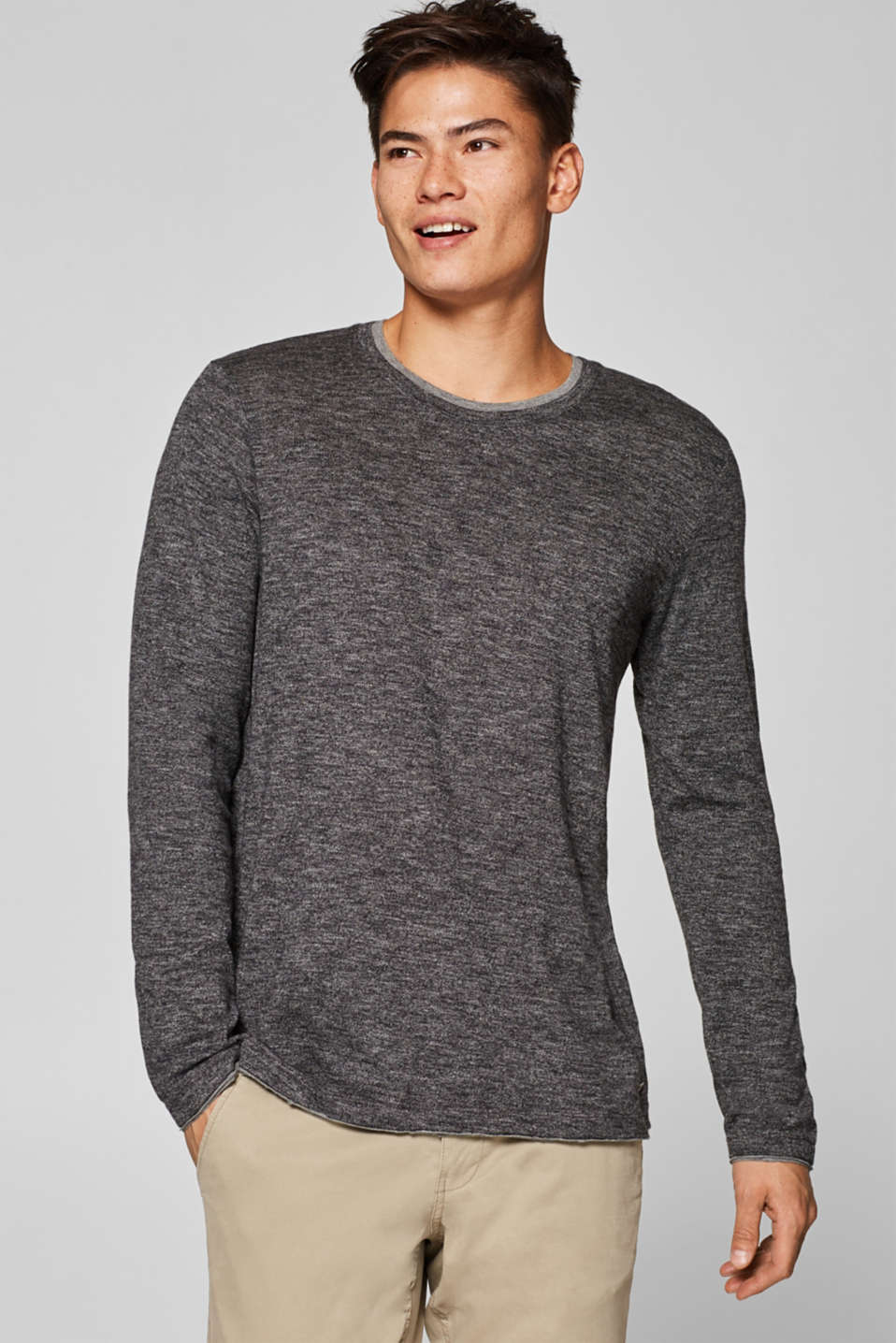 edc - Long sleeve jersey top in a layered look