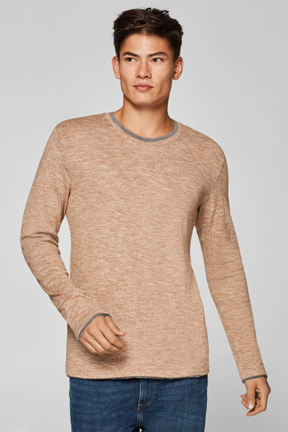 edc - Jersey long sleeve top with organic cotton