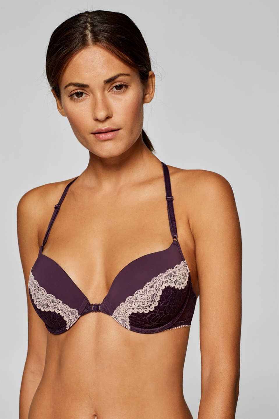 edc - Padded underwire bra in two kinds of lace