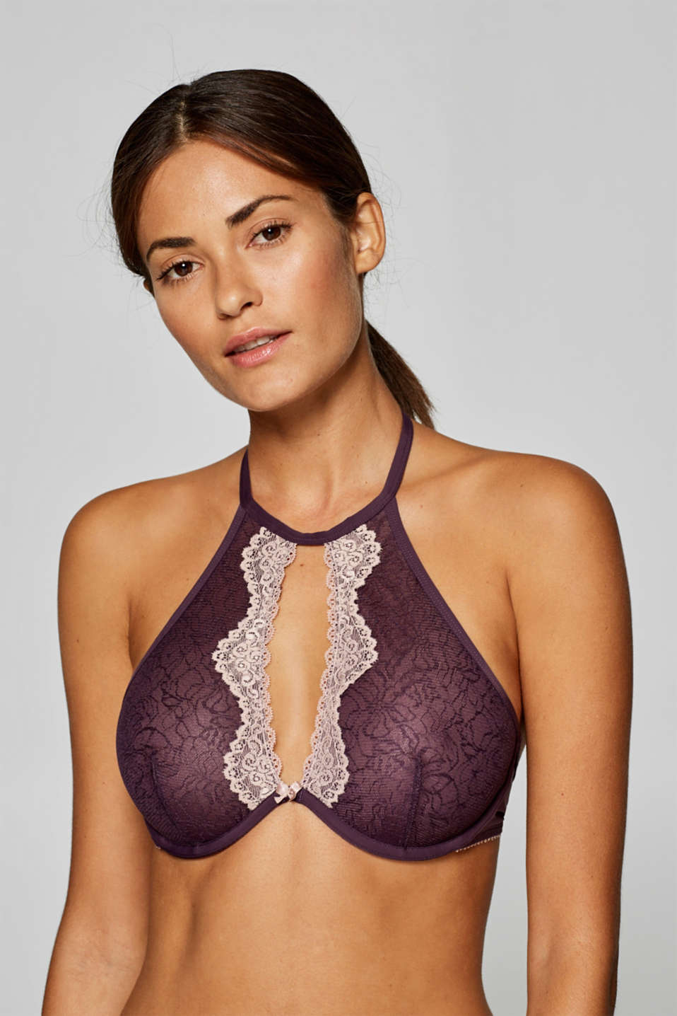 597485656db1 edc - Unpadded underwire bra with two kinds of lace at our Online Shop