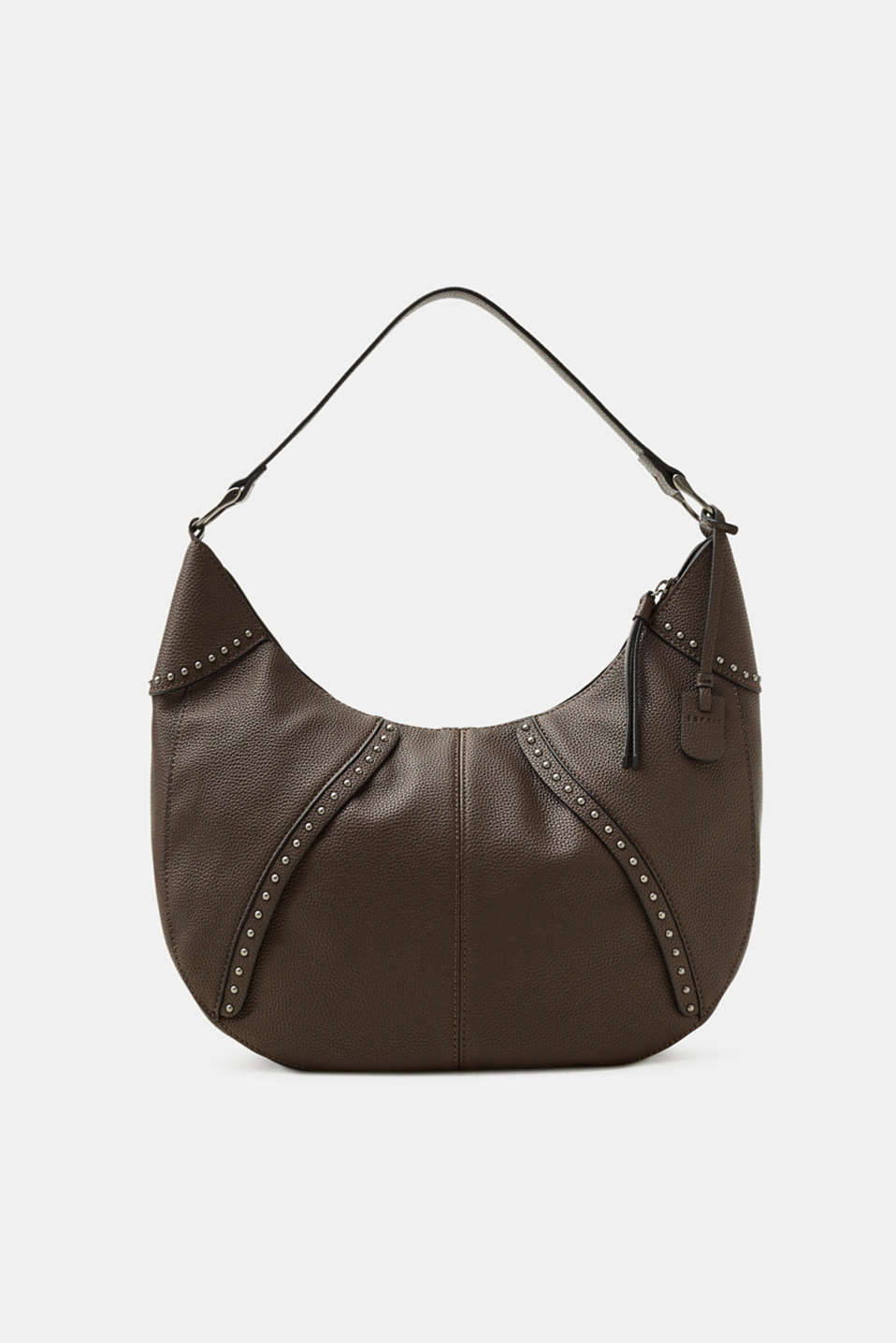 Esprit - Hobo bag with studs, in faux leather