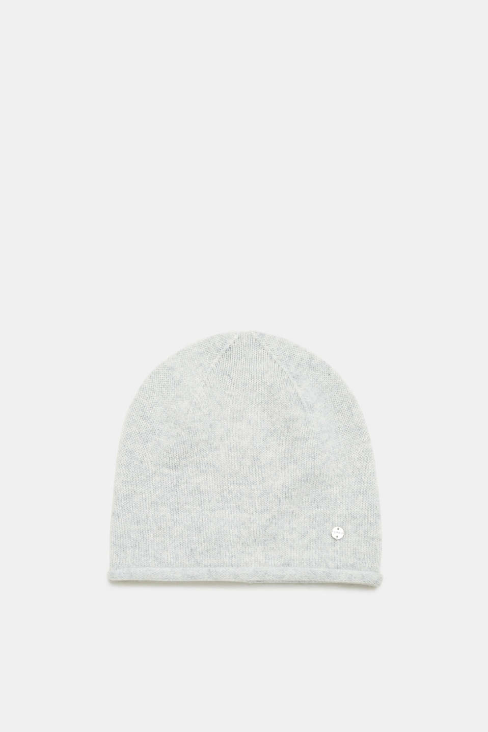 Esprit - Containing cashmere: hat with rolled edges