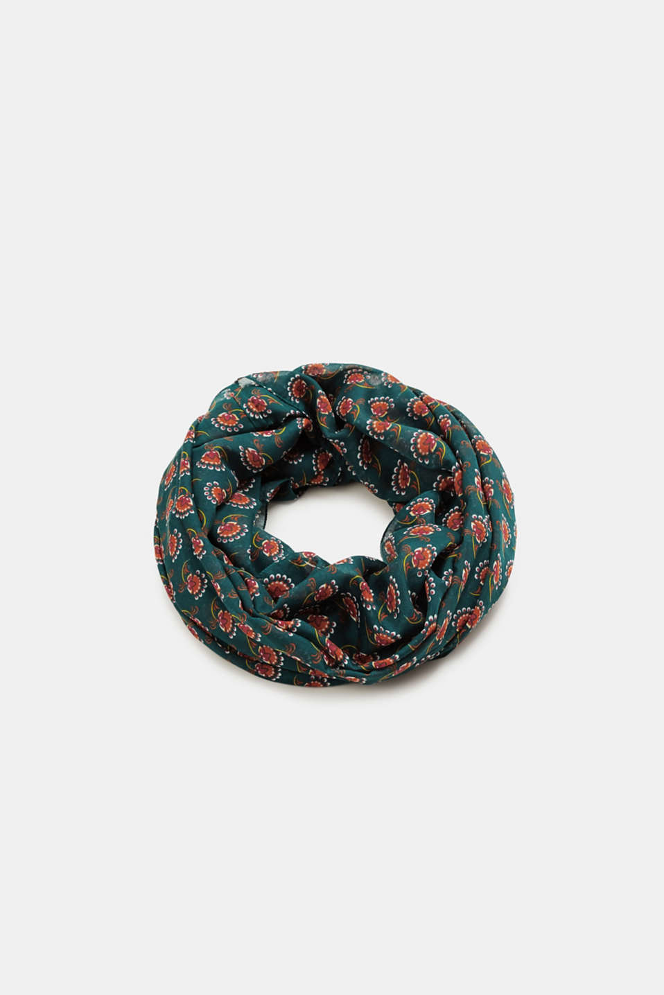 Esprit - Snood with floral print, recycled