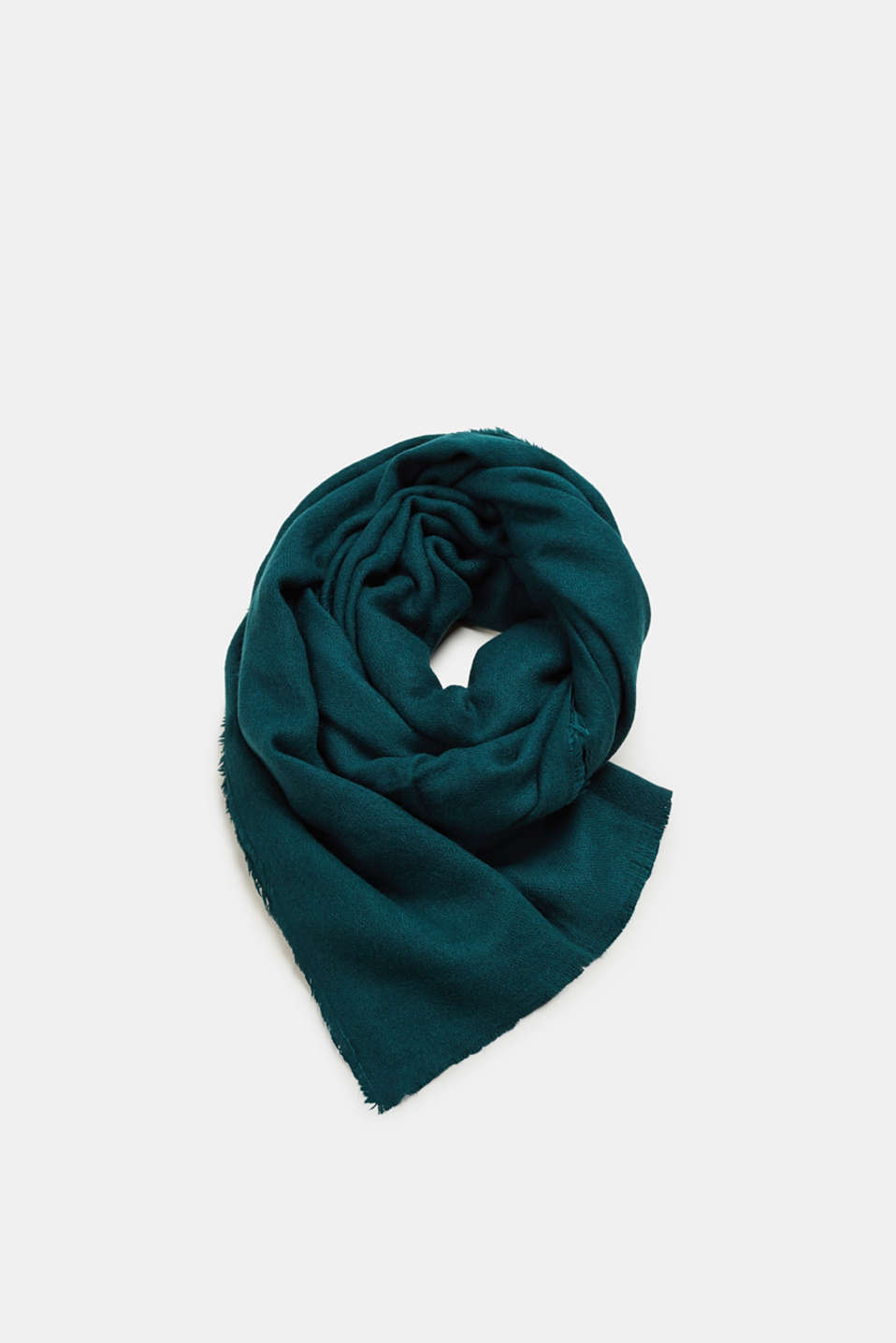 Esprit - Oversized scarf in wool-effect fabric