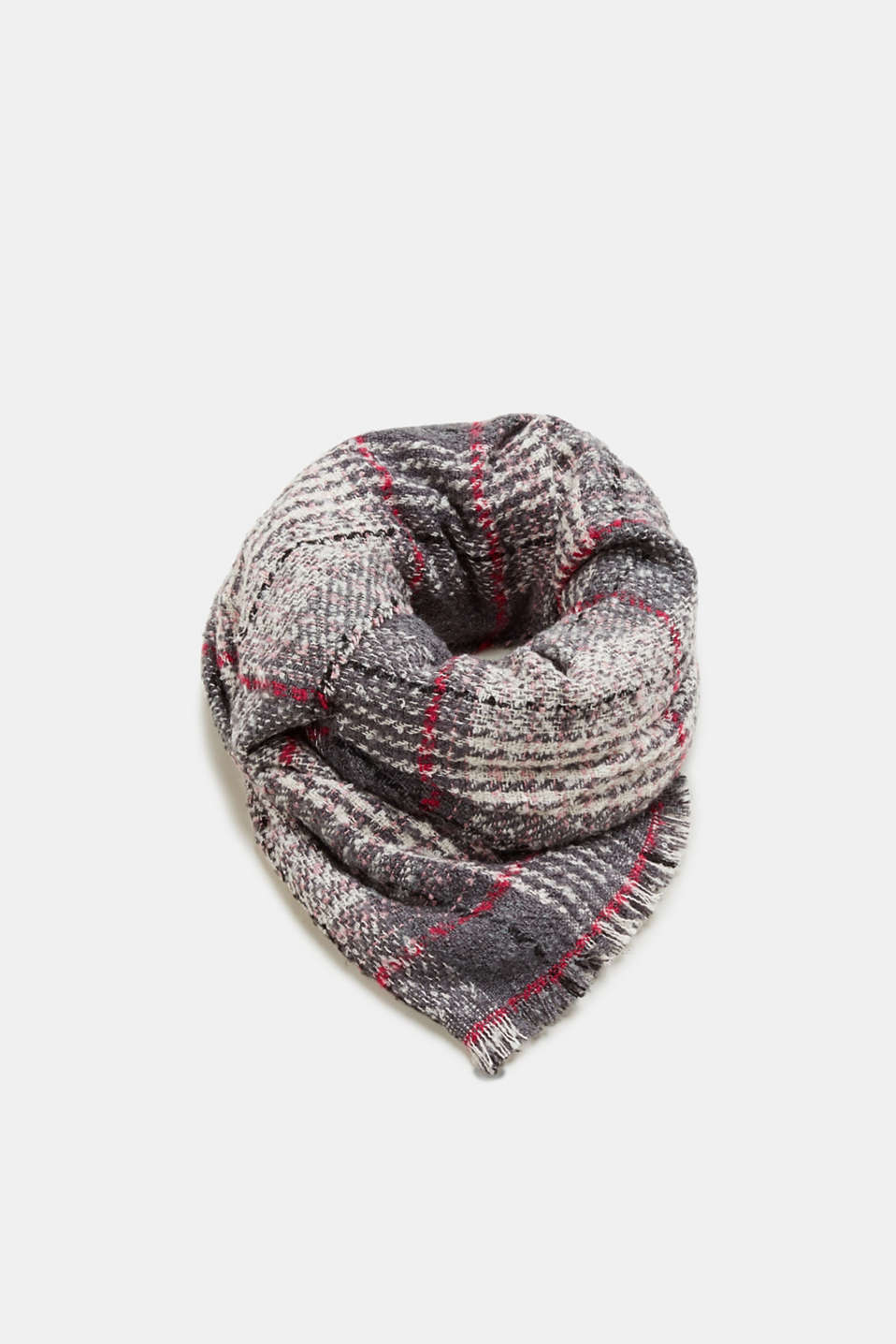 Esprit - Woven scarf with tartan checks