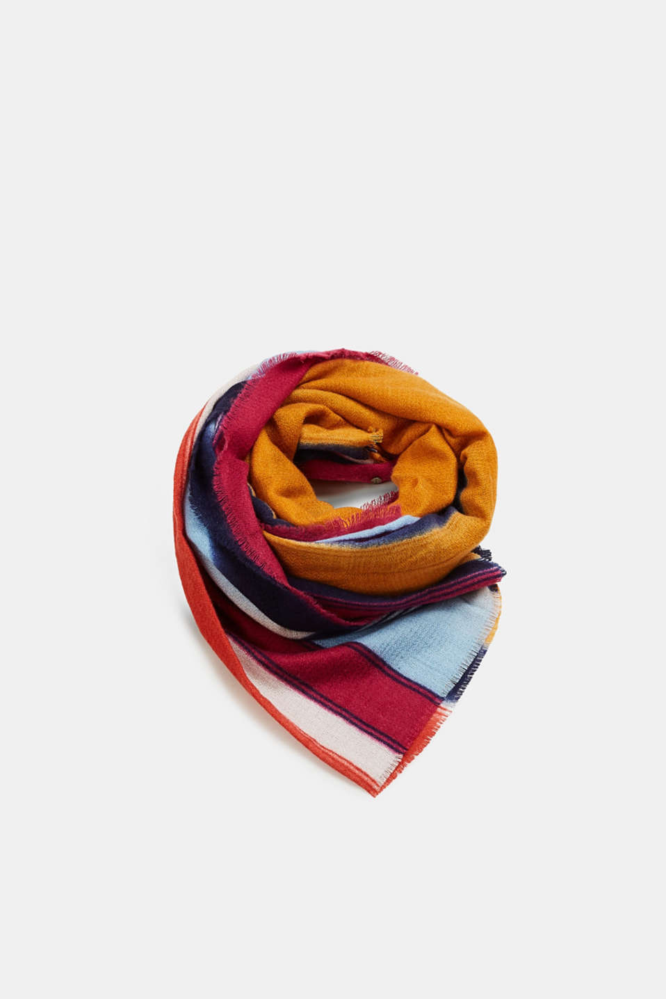 Esprit - Woven scarf with colourful stripes