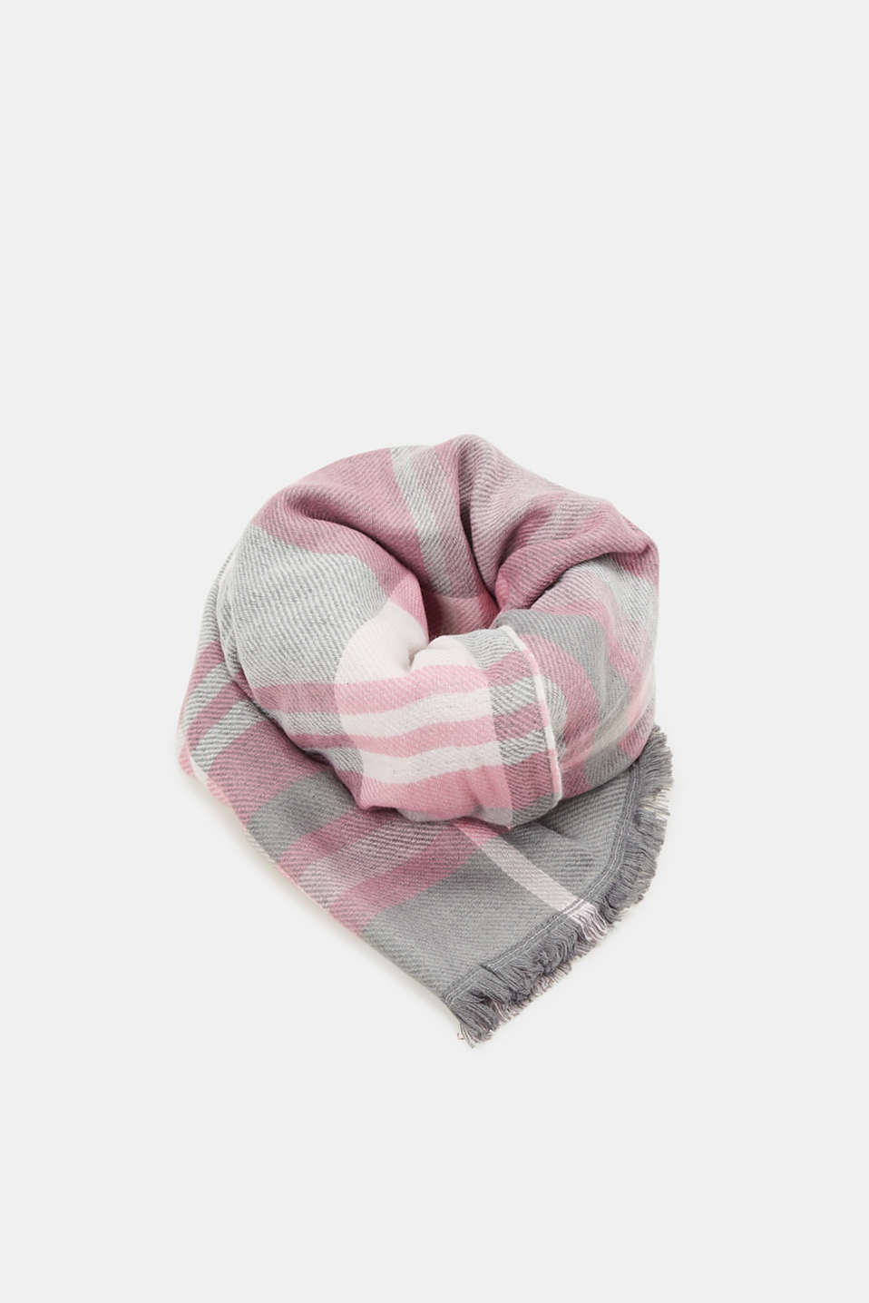 Esprit - Patterned double-face scarf