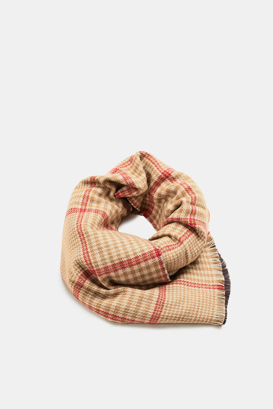 Esprit - Woven scarf with Prince of Wales check pattern