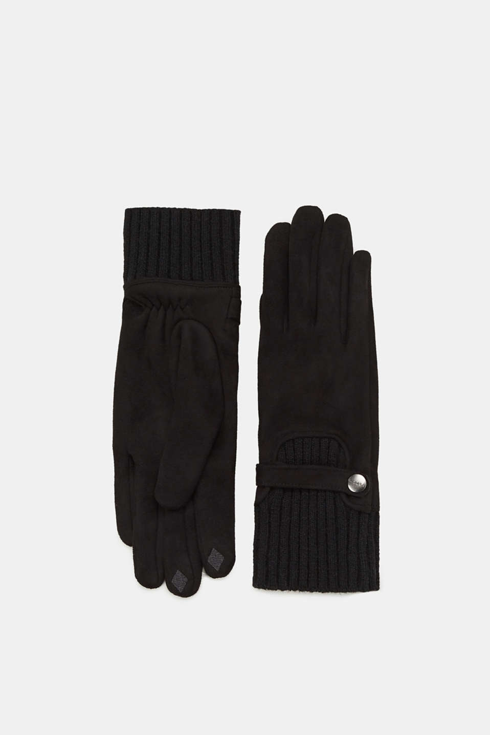 Esprit - Touchscreen-Handschuhe in Velours-Optik