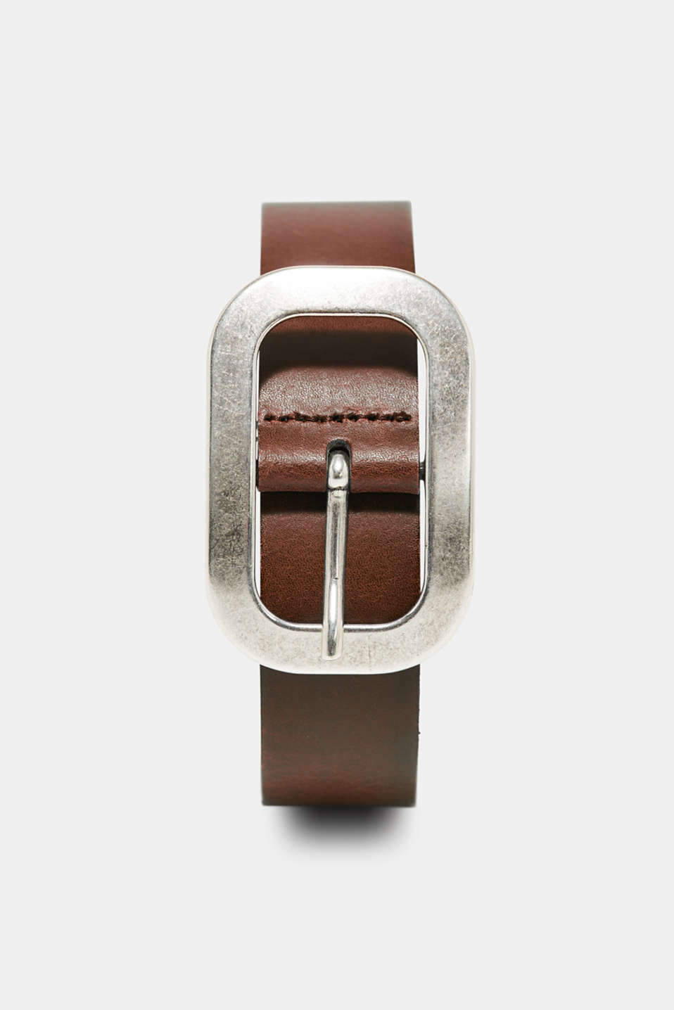 Esprit - Leather belt with a solid metal buckle