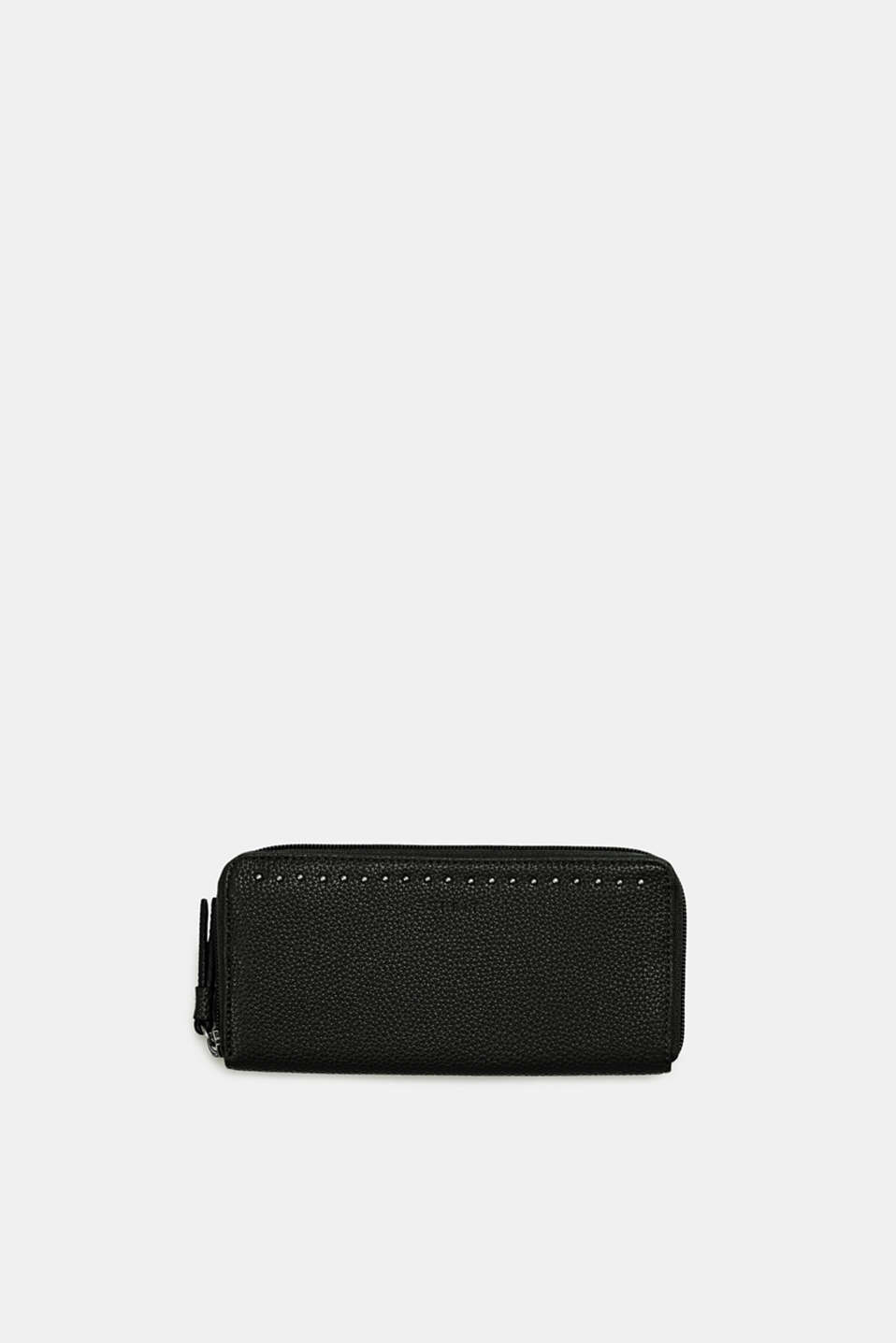 Esprit - Faux leather wallet with studs