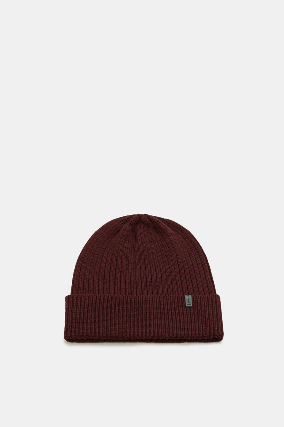 Esprit - Rib knit cap made of blended cotton