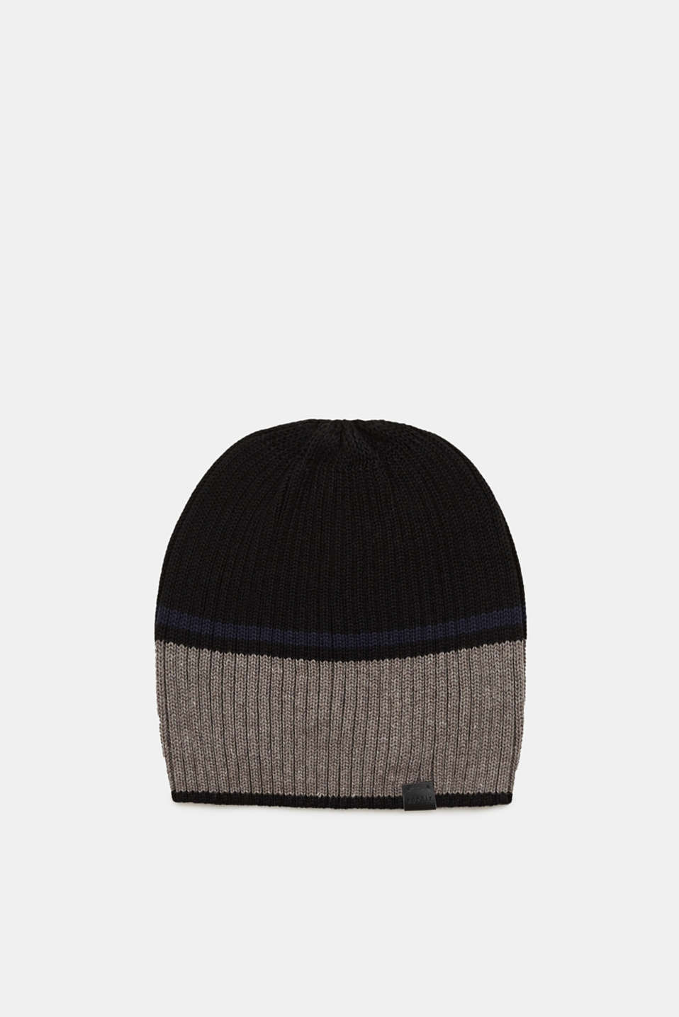 Esprit - Cap with block stripes, in blended cotton