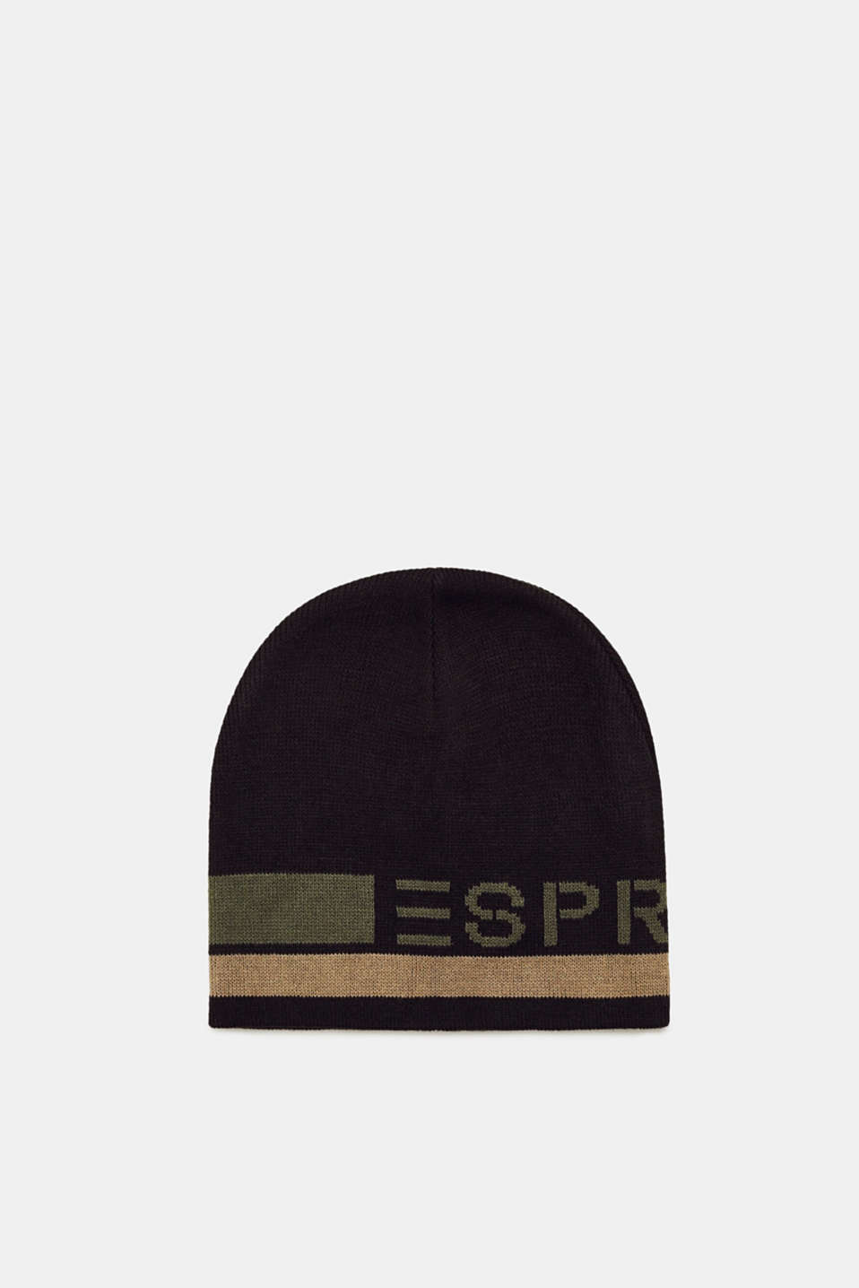 Esprit - Hat with logo intarsia