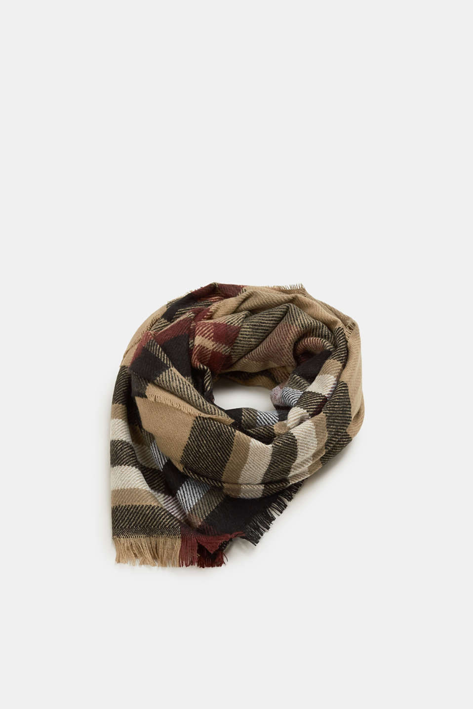Esprit - Large checked scarf