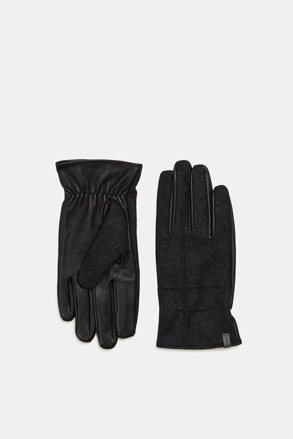 Esprit - Gloves with lamb leather