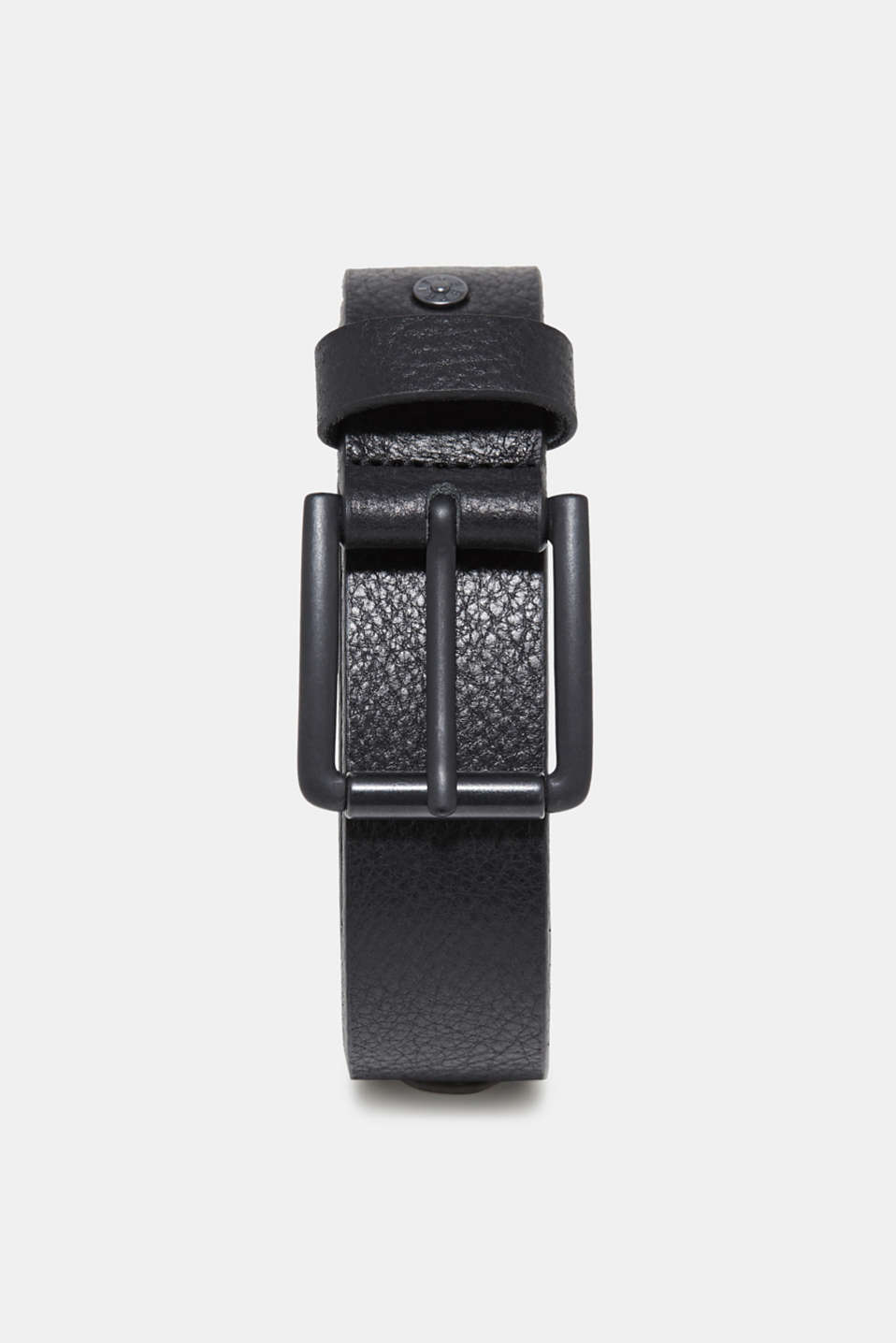 Esprit - Leather belt with a black metal buckle