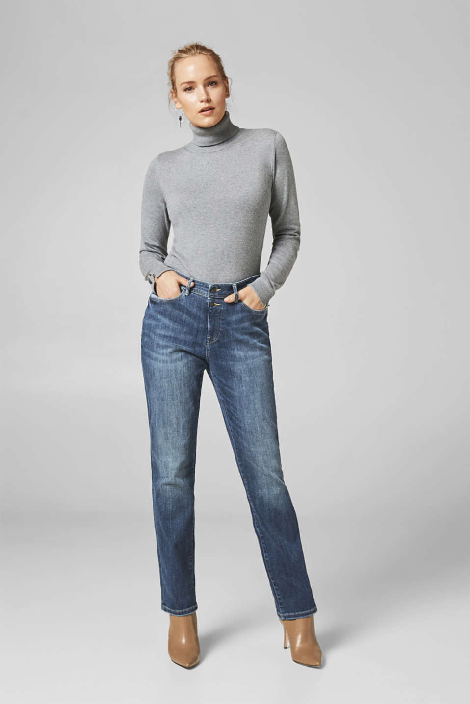 Esprit - ESPRIT CURVES straight stretch jeans