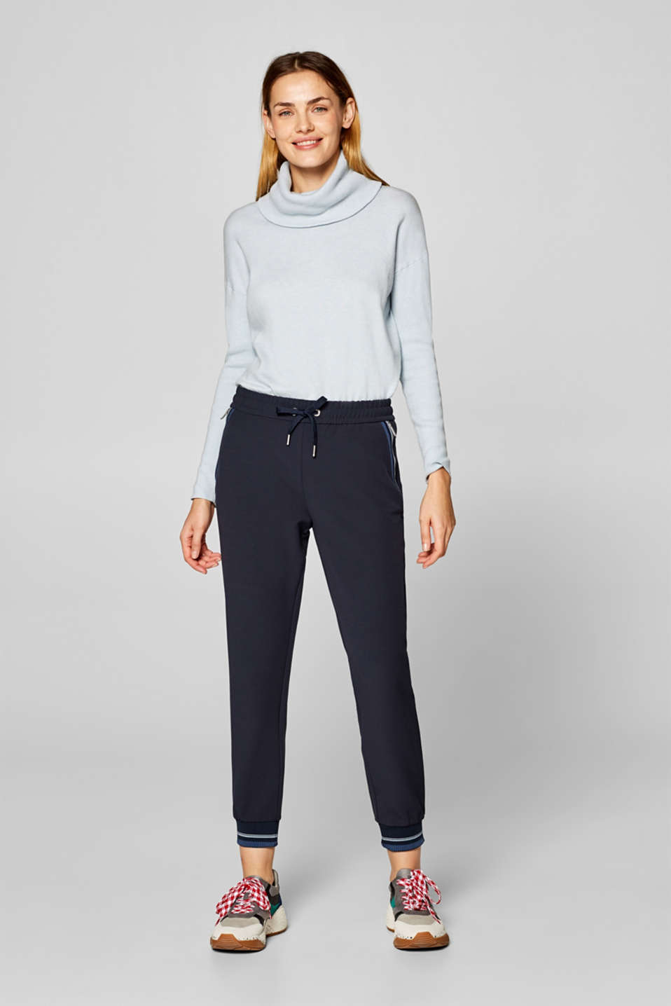 Esprit - Tracksuit bottoms in thick jersey