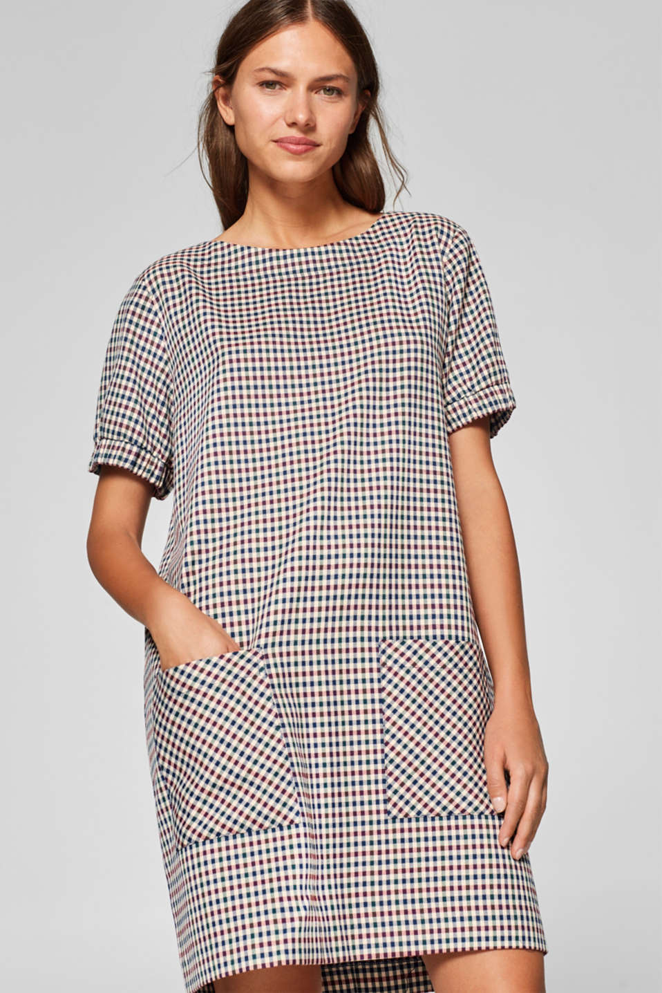 Esprit - Woven dress in an oversized style