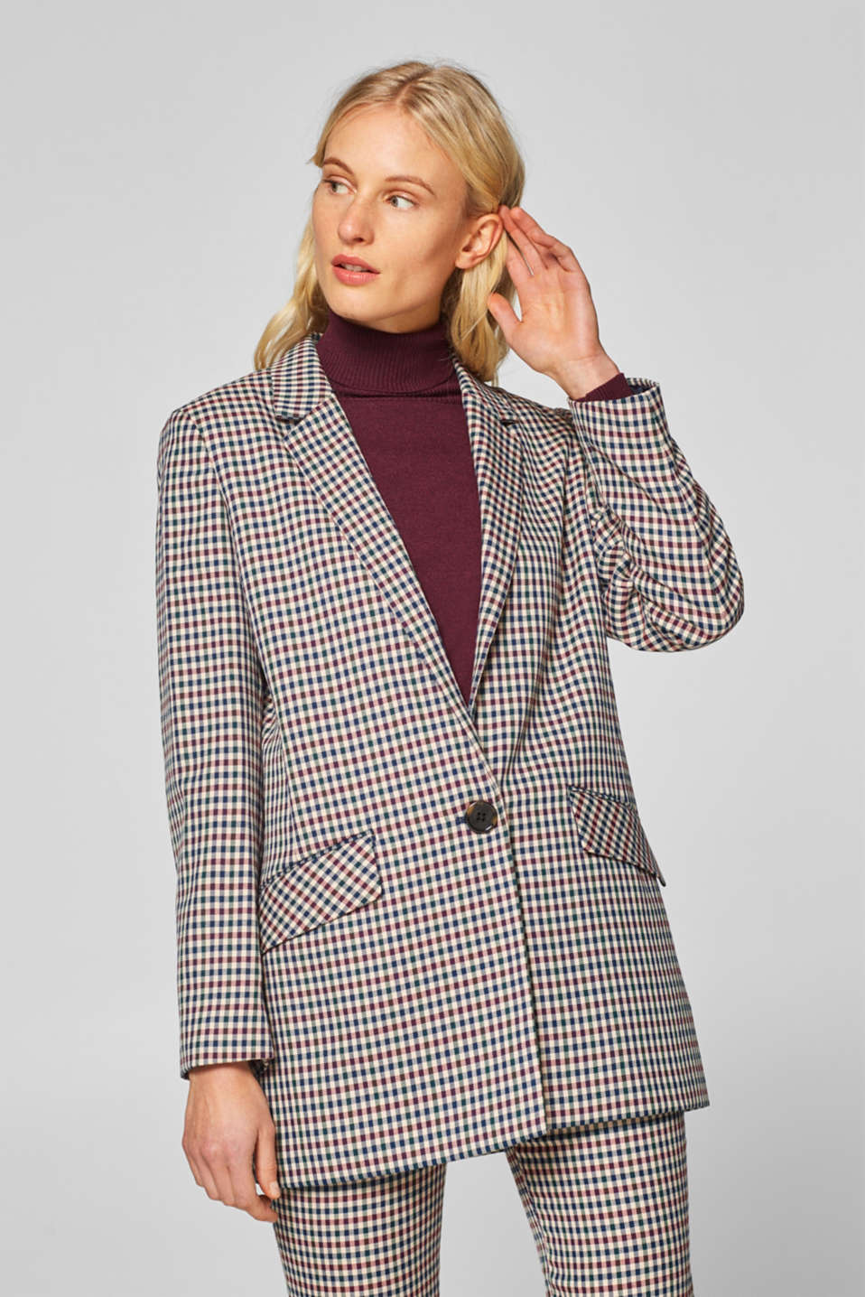Esprit - COLOUR CHECK mix + match: oversize blazer