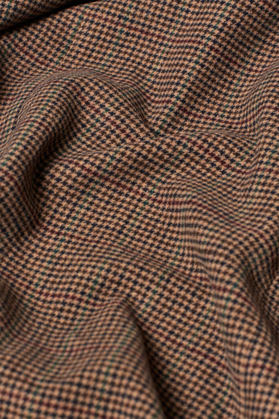 Wool blend coat with mini houndstooth pattern, BROWN, detail image number 4