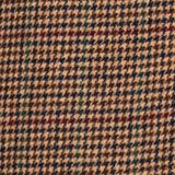 Wool blend coat with mini houndstooth pattern, BROWN, swatch