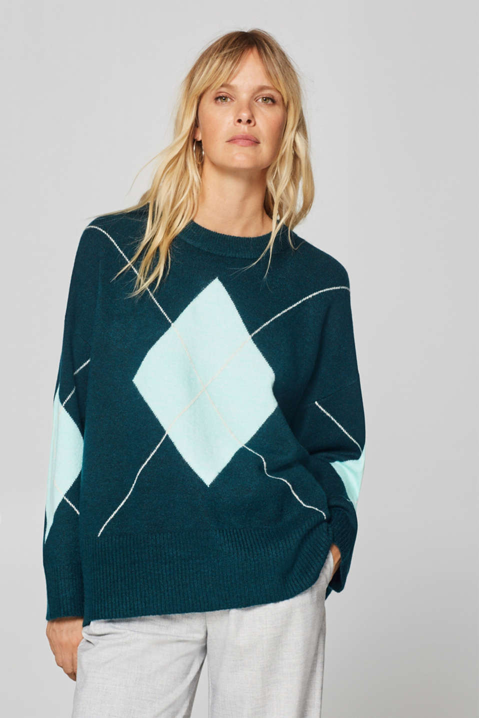 Esprit - With wool: oversized stretch jumper