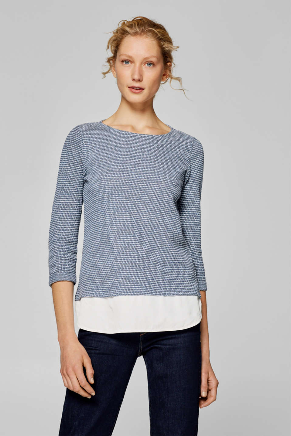 Esprit - Layered sweatshirt, recycled