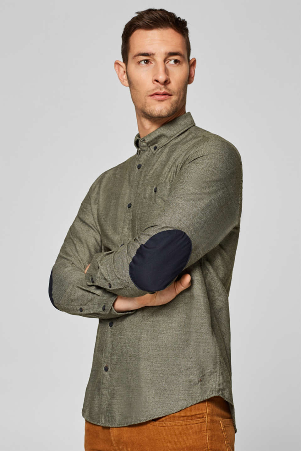 Esprit - Shirt made of woven textured fabric