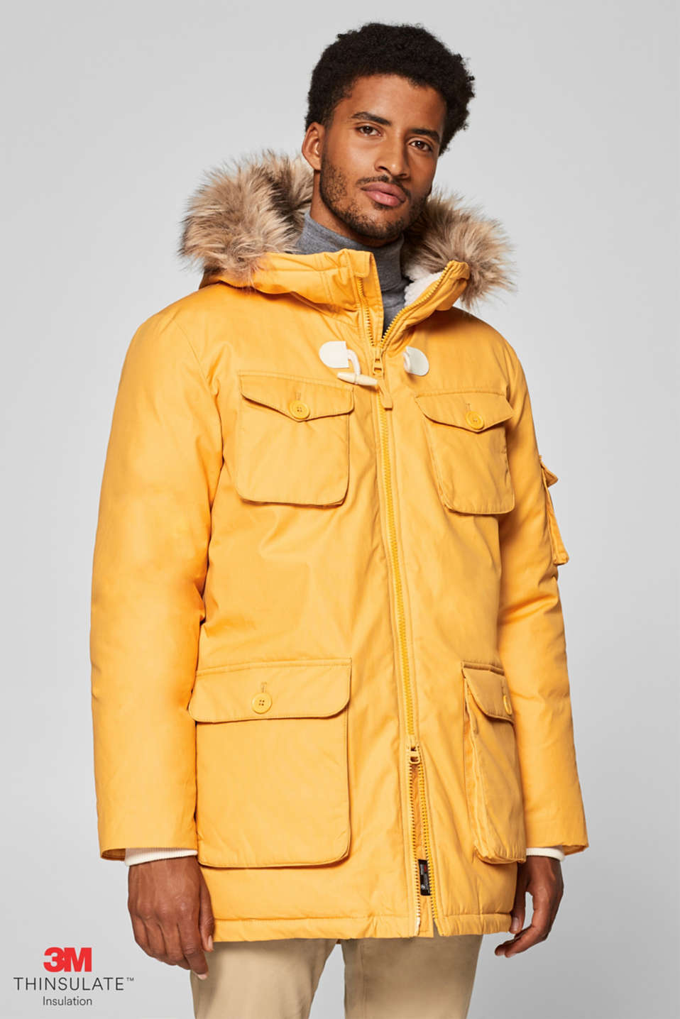 Esprit - Parka with a hood and 3M® Thinsulate® padding