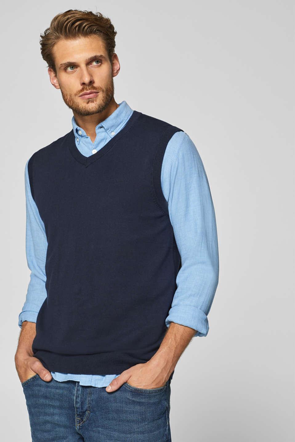 Esprit - Slipover i 100% bomull i Esprits Online-Shop 37a8c9ed800e9