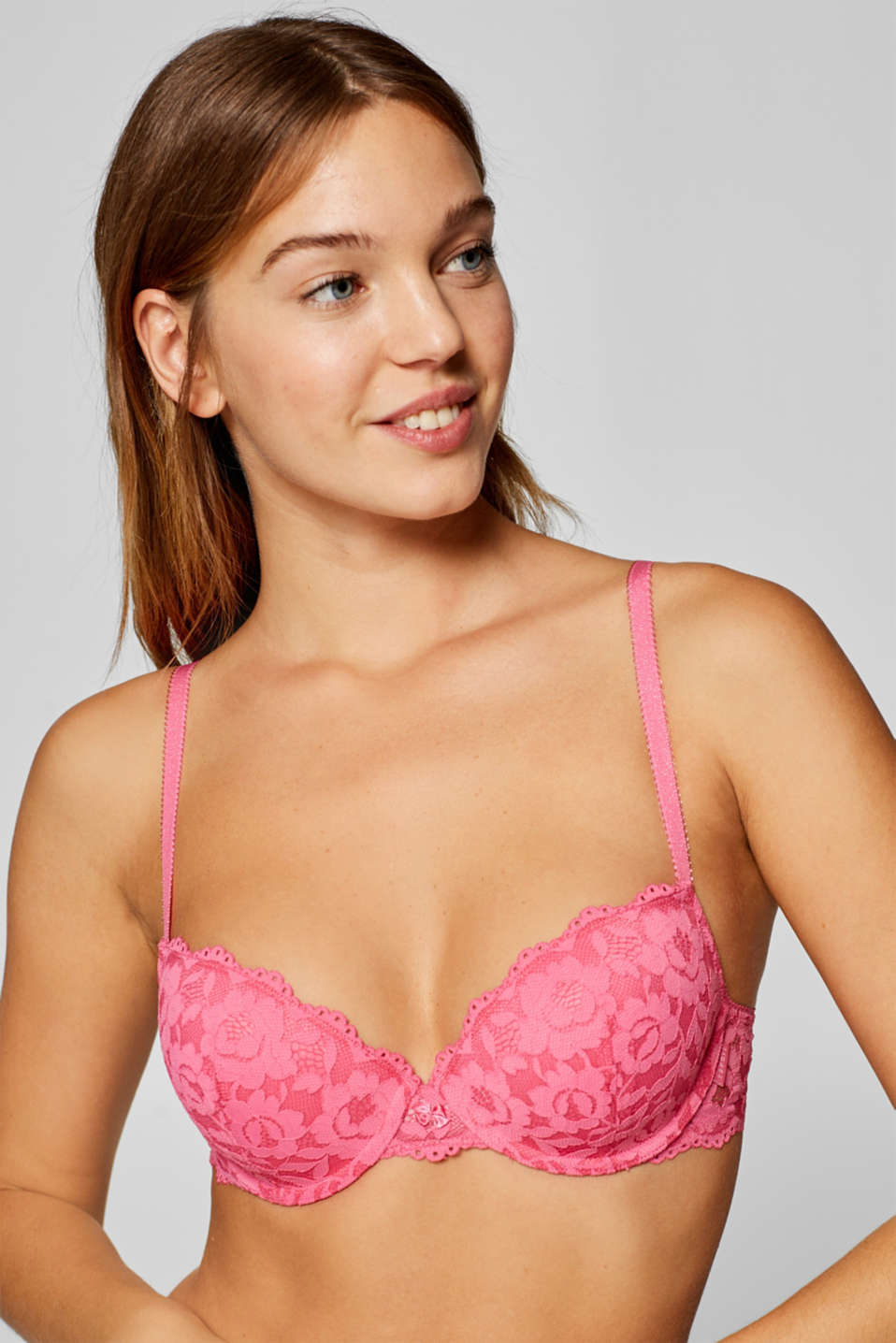 Esprit - Padded underwire bra in floral lace