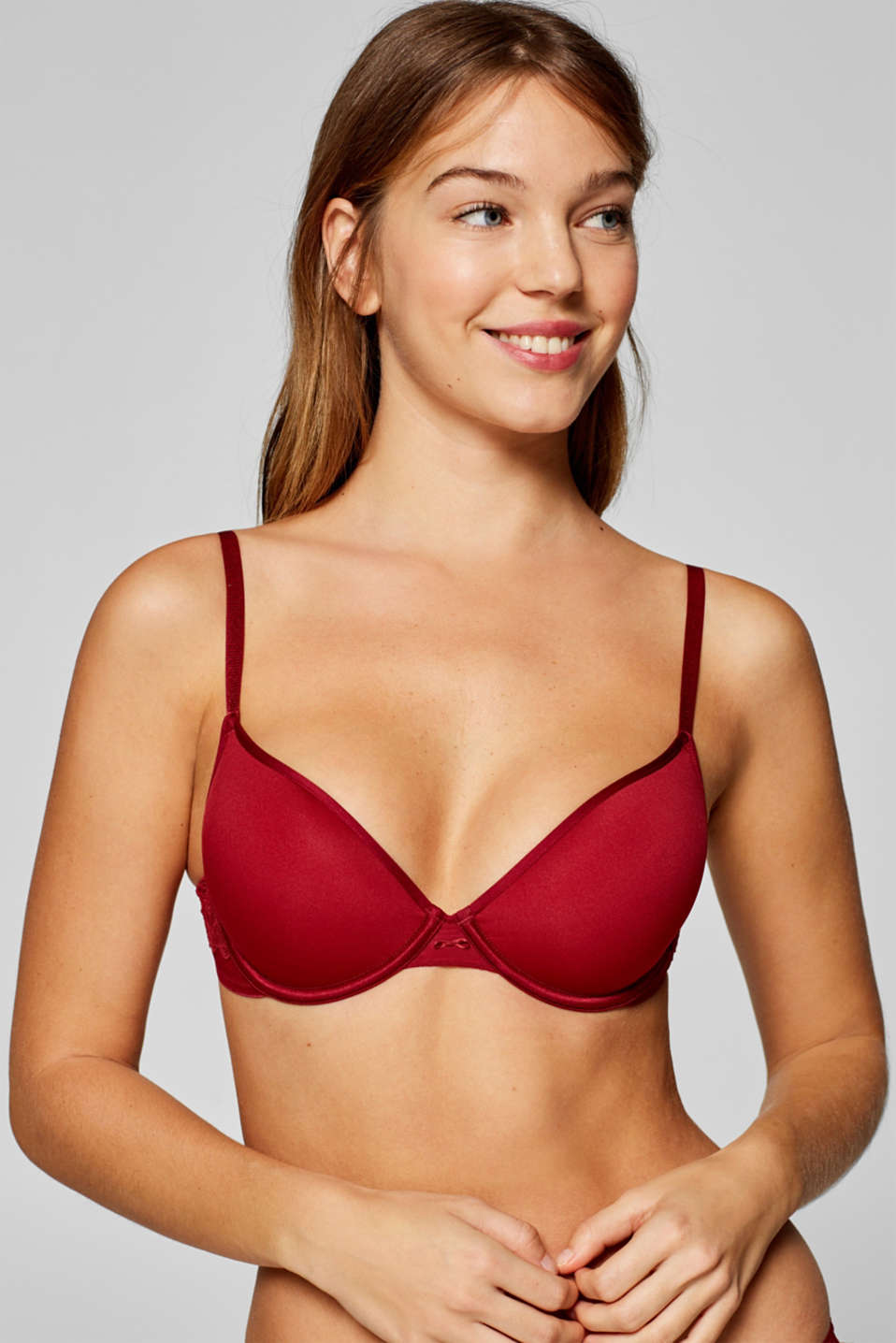 Esprit - Padded underwire bra with smooth cups and lace